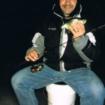 New York Crappie Joe on the Ice by Night