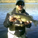 New York Largemouth Bass after Ice-Out on the Muscoot