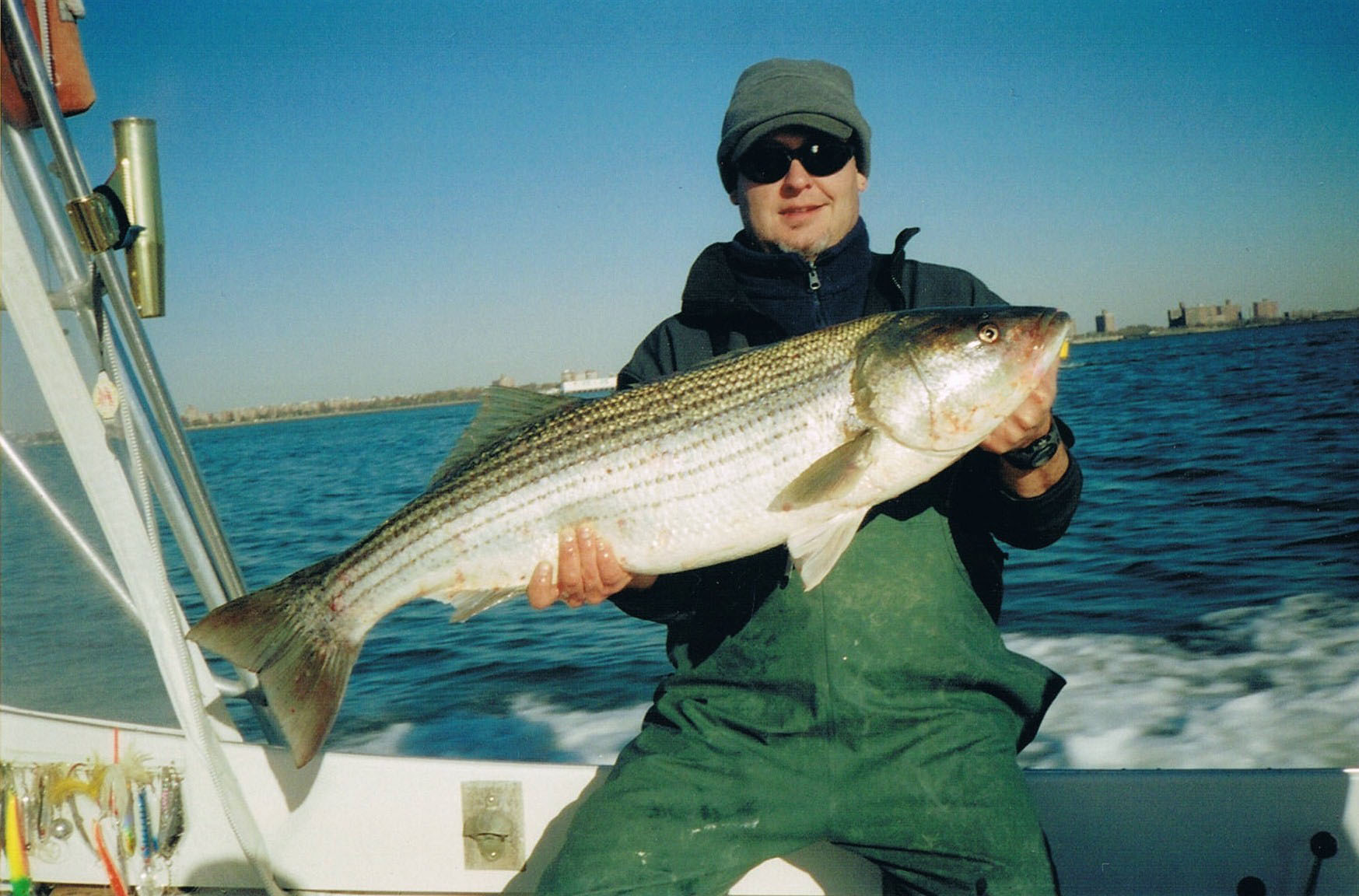Excited striped bass record new york can help