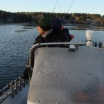 Fishing in Sweden on Mikaels Icebreaker