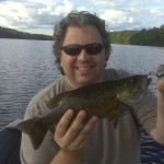 Chris got another Kensico Smallmouth